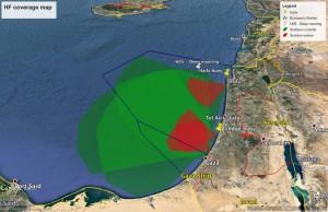 HF radar system planned coverage